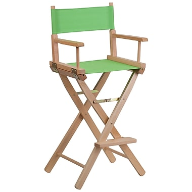 Flash Furniture Bar-Height Directors Chair, Green (TYD01GN)