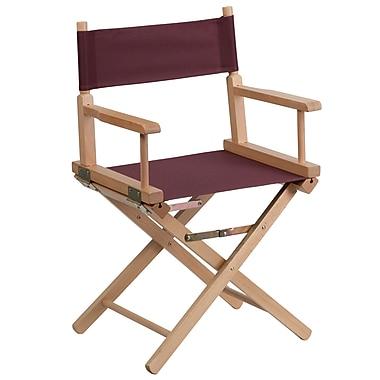 Flash Furniture – Fauteuil de metteur en scène de dimensions standards, brun (TYD02BN)