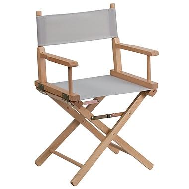 Flash Furniture – Fauteuil de metteur en scène de dimensions standards, 17,5 po, gris (TYD02GY)