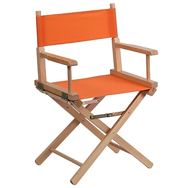 Flash Furniture Standard-Height Directors Chair, Orange (TYD02OR)