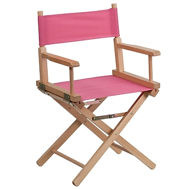 Flash Furniture – Fauteuil de metteur en scène de dimensions standards, rose (TYD02PK)