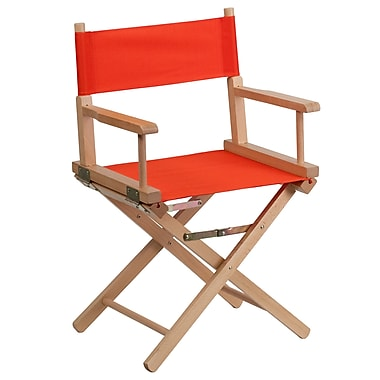 Flash Furniture Beechwood Frame Standard Height Directors Chair in Red (TYD02RD)