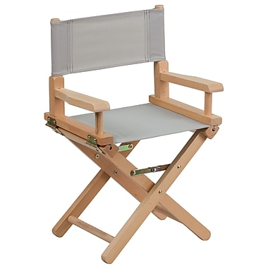 Flash Furniture Kid-Size Directors Chair, Gray (TYD03GY)