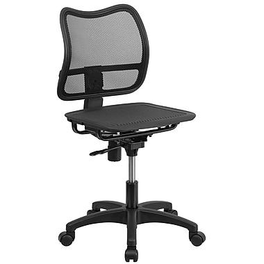 Flash Furniture – Chaise de travail pivotante noire avec dossier à mi-hauteur en filet (WR22)