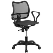 Flash Furniture Mid-Back Mesh Swivel Task Chair with Loop Arms, Black (WR22A)