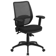 Flash Furniture WR72GREY Mid-Back Gray Mesh Executive Swivel Office Chair with Back Angle Adjustment
