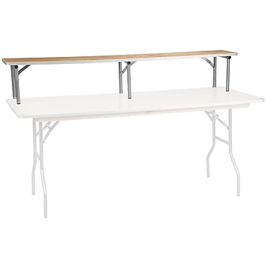 Flash Furniture 72'' x 12'' x 12'' Bar Top Riser, Birchwood with Silver Legs (XA72RS)