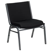 Flash Furniture  Hercules Series 1000lb-Capacity Big and Tall Extra Wide Fabric Stack Chair, Black (XU60555BK)