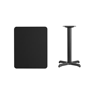 Flash Furniture – Table en stratifié noir de 24 x 30 po avec base de 22 x 22 po (XUBK2430T2222)