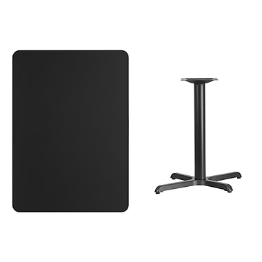 Flash Furniture – Table en stratifié noir de 30 x 42 po avec base de 22 x 30 po (XUBK3042T2230)