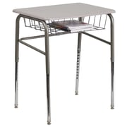 Flash Furniture Standard Sit & Stand Desk, Silver/Chrome (XUDESK)