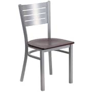 Flash Furniture Hercules Series Silver Slat Back Metal Restaurant Chair (XUDG60401MAHW)