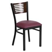 Flash Furniture Hercules Black Decorative Slat Back Metal Restaurant Chair (XUDG6G5WALGV)