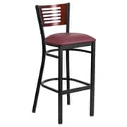 "Flash Furniture Hercules 32"" Black Decorative Slat Back Metal Barstool (XUDG6H1BMAHBGV)"