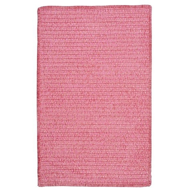 Colonial Mills Solid Chenille Pink Area Rug; 6' x 9'