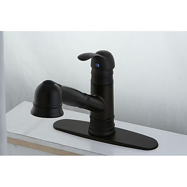 Kingston Brass Eden Gourmetier Pull-Out Kitchen Faucet; Oil Rubbed Bronze