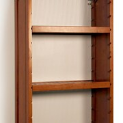 John Louis Home 12'' Deep Woodcrest Adjustable Shelves (Set of 2); Carmel