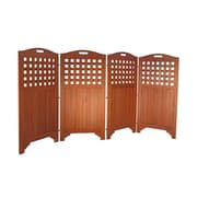 Vifah Outdoor Wood Privacy Screen