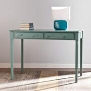 Wildon Home   Merritt 2 Drawer Writing Desk in Agate Green