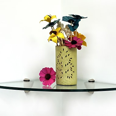 Spancraft Glass 16'' W Bathroom Shelf; Chrome