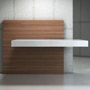 Modloft Walker Wall-Mounting Desk; White Lacquer on Walnut