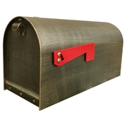 Special Lite Products Titan Post Mounted Mailbox w/ Rain Overhang; Hand Rubbed Bronze