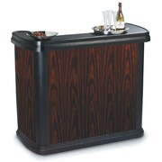 Carlisle Food Service Products Maximizer  Portable Bar; Cherry Wood