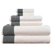 Lunasidus Venice 6 Piece Towel Set; Black