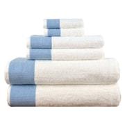 Lunasidus Venice 6 Piece Towel Set; Blue