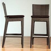 Hospitality Rattan Soho Outdoor Sunbrella Barstool Cushion; Bay Brown