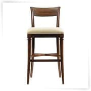 Moe's Home Collection Stanley Bar Stool with Cushion; Blue