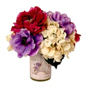 Creative Displays, Inc. Magenta Peony and Mixed Hydrangea Paris Label Pot