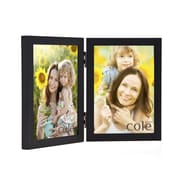 Philip Whitney Double Wood Picture Frame; 5'' x 7''