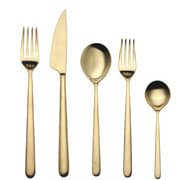 MEPRA Linea 5 Piece Cutlery Set; Matte Gold