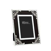 Philip Whitney Enamel Corning Glass Picture Frame; Black