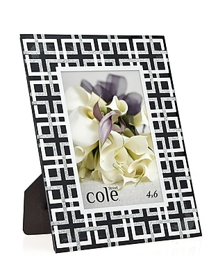 Philip Whitney Geometric Glitter Picture Frame; 4'' x 6'' WYF078277890206