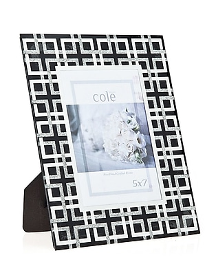 Philip Whitney Geometric Glitter Picture Frame; 5'' x 7'' WYF078277890207
