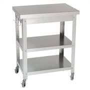 Danver Stainless Steel Kitchen Cart; Without Drawer