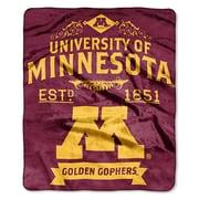 Northwest Co. Collegiate Minnesota Label Raschel Throw