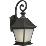 Forte Lighting One Light Outdoor Wall Lantern with Frosted Glass Panels in Royal Bronze