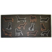 Imports Decor Colored Dog Doormat