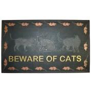 Imports Decor Beware of Cat Doormat