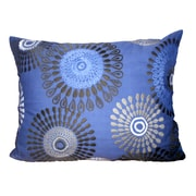 A&B Home Group, Inc Embroidered Polyester Lumbar Pillow; Blue