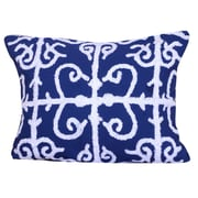 A&B Home Group, Inc Embroidered Cotton Lumbar Pillow in Blue; Blue