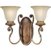 Forte Lighting Two Light Wall Sconce in Rustic Sienna