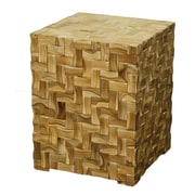 New Pacific Direct Cinch Cube End Table; Natural/Light