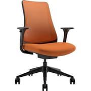 Via Seating Task Seating Mid-Back Mesh Chair with Adjustable Arms; Orange