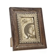 Philip Whitney Wood Brass Inner Trim Picture Frame