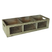 Cheungs 3 Sectioned Crate with Wire Front and Side Handles