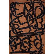 Momeni New Wave 111 Copper Contemporary Wool Rug; Runner: 2'6'' x 14'